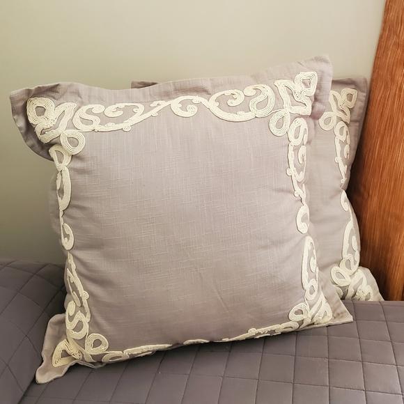 Pier 1 Other - Pier 1 Grey Accent Pillows